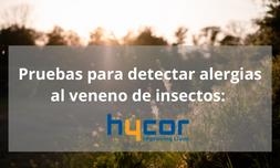 Pruebas para detectar alergias al veneno de insectos: antecedentes y complicaciones
